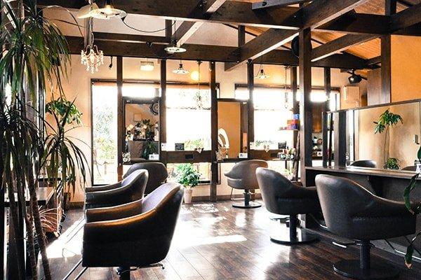 フォーレストガーデン店内は窓から緑と光が射す心地良い空間です